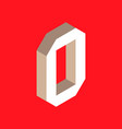 isometric letter o vector image vector image