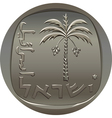 israeli coin 10 ten agora with the image of the da vector image vector image