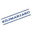 Kilimanjaro Watermark Stamp vector image vector image