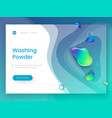 landing page template with a blue fresh background vector image vector image