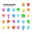 lettermark logo set vector image vector image