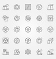 nuclear power icons set vector image