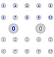 number icons circle vector image