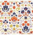 Ornamental folk tulips seamless pattern background vector image vector image