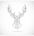 polygonal deer silhouette image of deer vector image