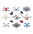 remote control flying copter with camera radio vector image vector image