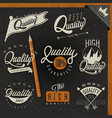 retro vintage style premium quality labels collect vector image vector image