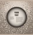 round text space vector image
