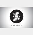 s letter monogram logo design modern s icon vector image