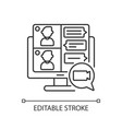 screen sharing linear icon vector image