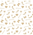 Seamless pattern Crowns butterflies shoes vector image