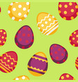 seamless pattern with decorated eggs isolated vector image vector image