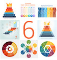set universal templates elements infographics vector image vector image