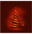 Shining christmas tree the magic christmas tree vector image vector image