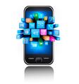 smartphone background vector image vector image