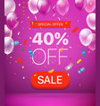 special offer concept 40 percent off vector image
