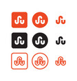stumbleupon social media icons vector image vector image