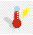 thermometer indicates high temperature isometric vector image vector image