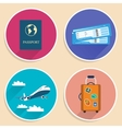 Vacation Travel Voyage Icons Set vector image vector image