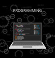 programming and coding web development concept vector image