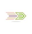 design element arrow icon symbol abstract vector image