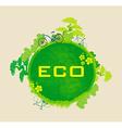 ecology card design vector image