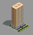 isometric 3d of modern urban vector image