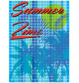 summer time - hand drawn calligraphy summer vector image