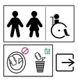 toilett signs set vector image