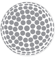 a golfball outline isolated in white background vector image vector image