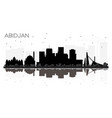 abidjan ivory coast city skyline silhouette with vector image vector image