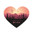 abstract heart-shaped landscape indonesian vector image vector image