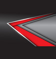 abstract red silver arrow direction on grey metal vector image vector image