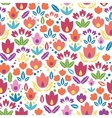 Abstract tulips seamless pattern background vector image
