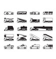 airport maintenance vehicles vector image vector image