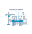 architectural building work construction site vector image