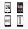 Barcode Scanner Mobile Set vector image