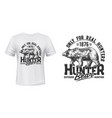 bear hunt t-shirt print mockup hunting club emblem vector image vector image