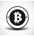 Bitcoin money icon with shadow on light background vector image vector image