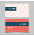 business card pattern red 05 vector image vector image