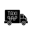 cargo taxi black glyph icon vector image