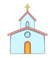 Church icon cartoon style vector image vector image