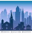 cleveland famous city scape vector image vector image