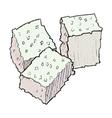 Cubs of sugar vector image
