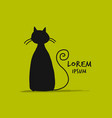 cute cat silhouette sketch for your design vector image vector image