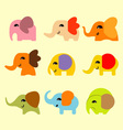Cute coloful elephant vector image
