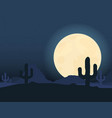 desert landscape under the night sky vector image