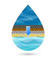drop of water filtration symbol vector image vector image