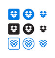 dropbox social media icons vector image