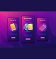 ebook app interface template vector image vector image